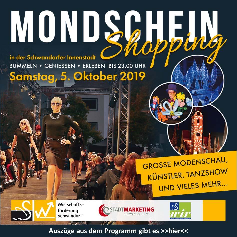 Mondschein-Shopping Schwandorf