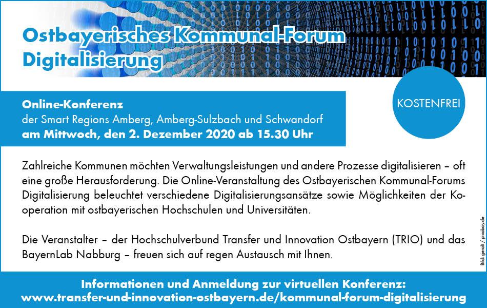 Ostbayerisches Kommunalforum Digitalisierung