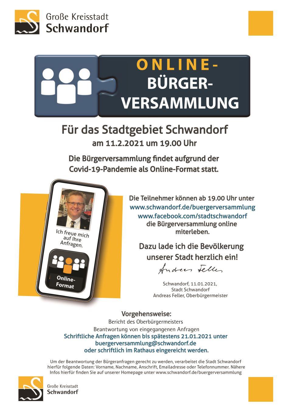 Online Bürgerversammlung Schwandorf